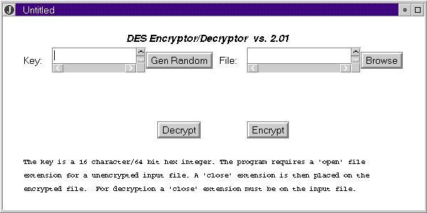 A Modified DES Encryption Application